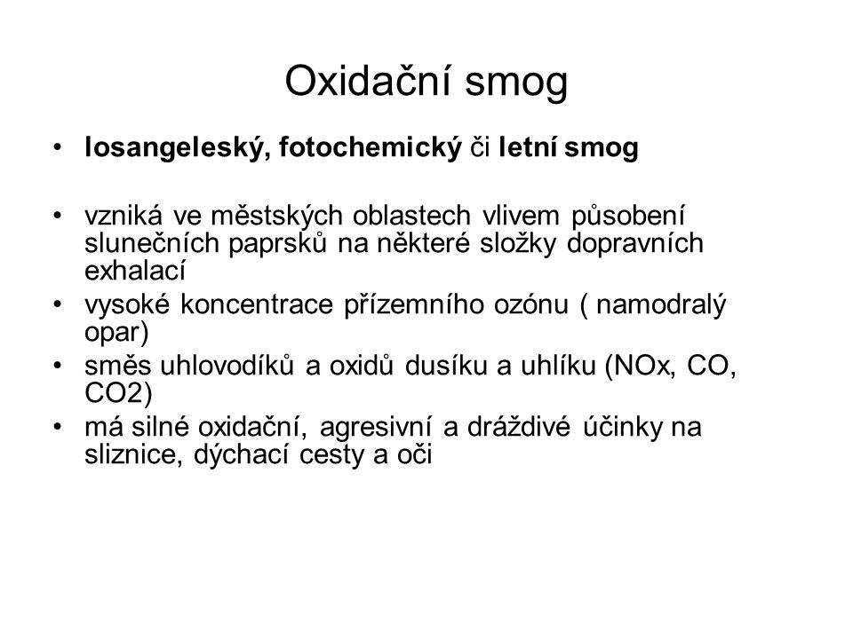 Oxidační smog losangeleský, fotochemický či letní smog