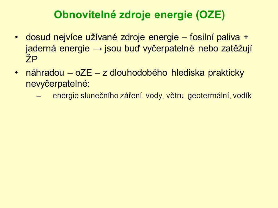 Obnovitelné zdroje energie (OZE)