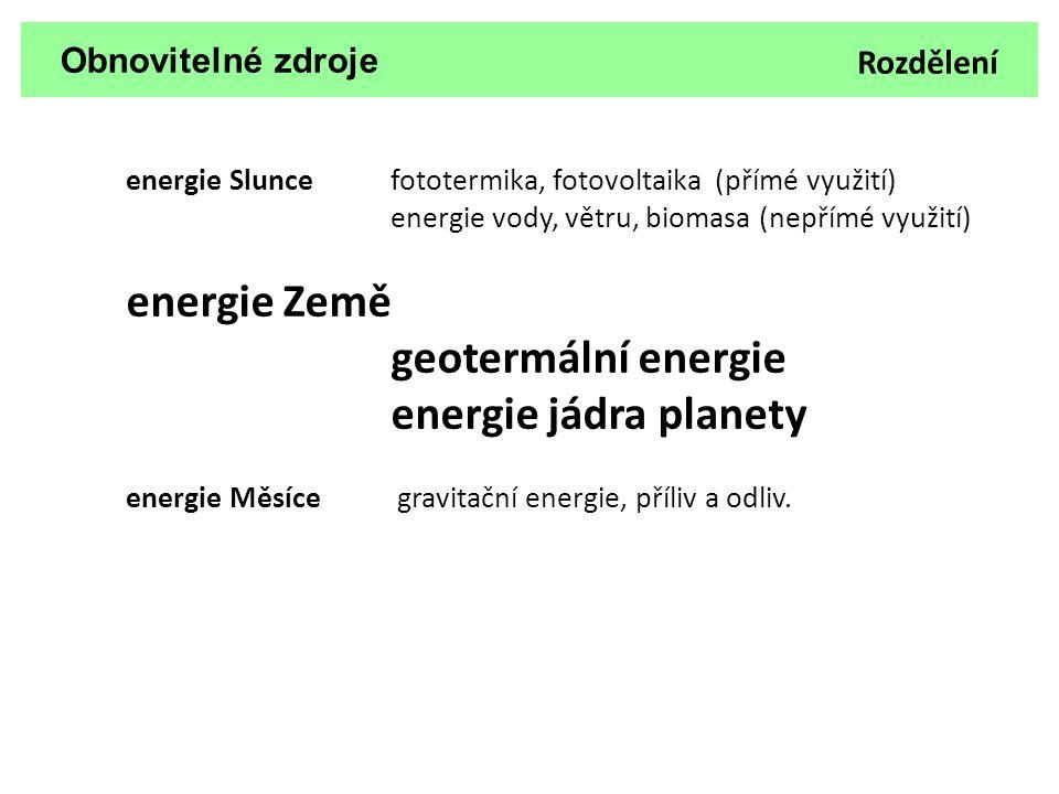 geotermální energie energie jádra planety