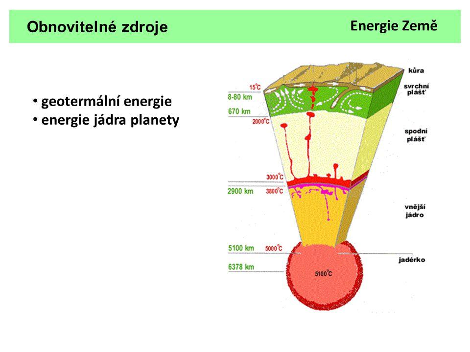 Obnovitelné zdroje Energie Země geotermální energie