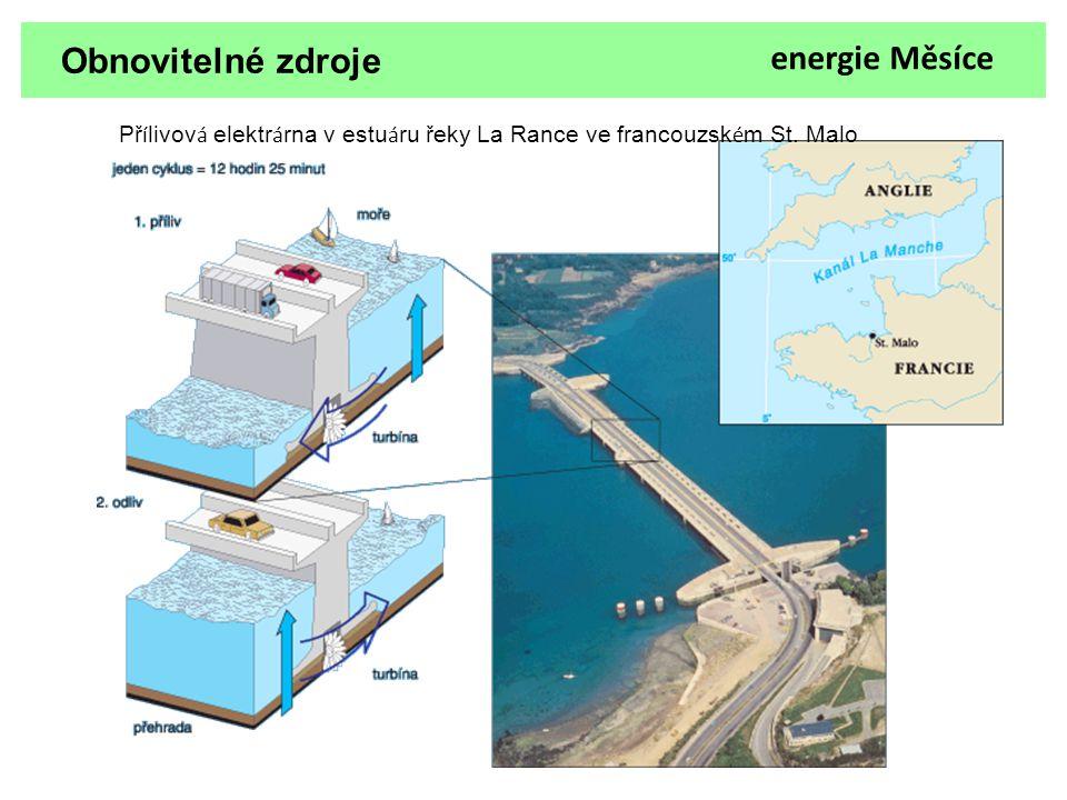 Přílivová elektrárna v estuáru řeky La Rance ve francouzském St. Malo