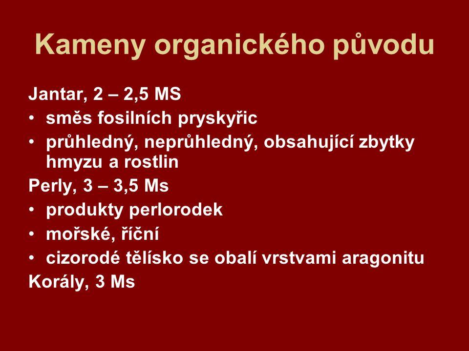 Kameny organického původu