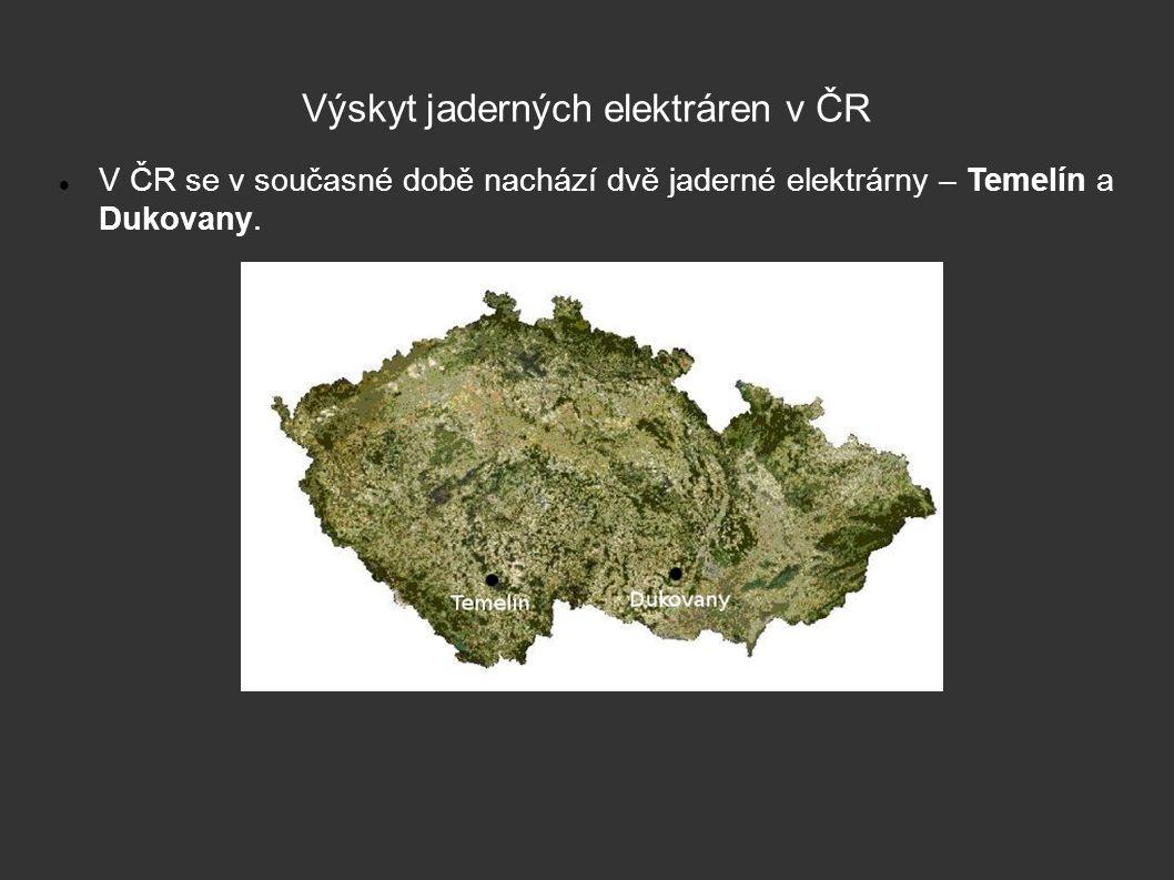 Výskyt jaderných elektráren v ČR