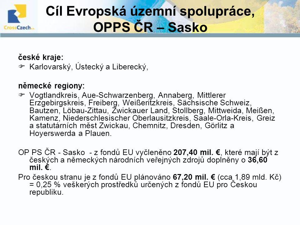 Cíl Evropská územní spolupráce, OPPS ČR – Sasko
