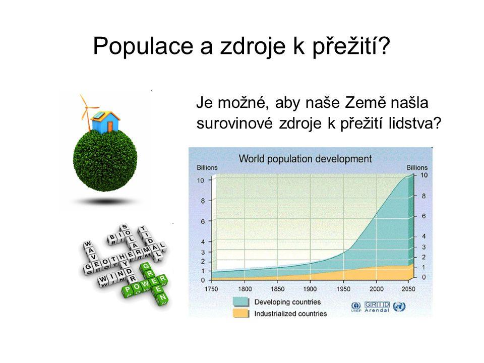 Populace a zdroje k přežití