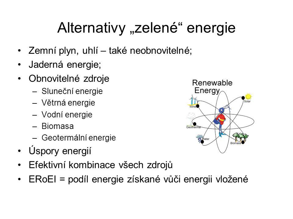 """Alternativy """"zelené energie"""