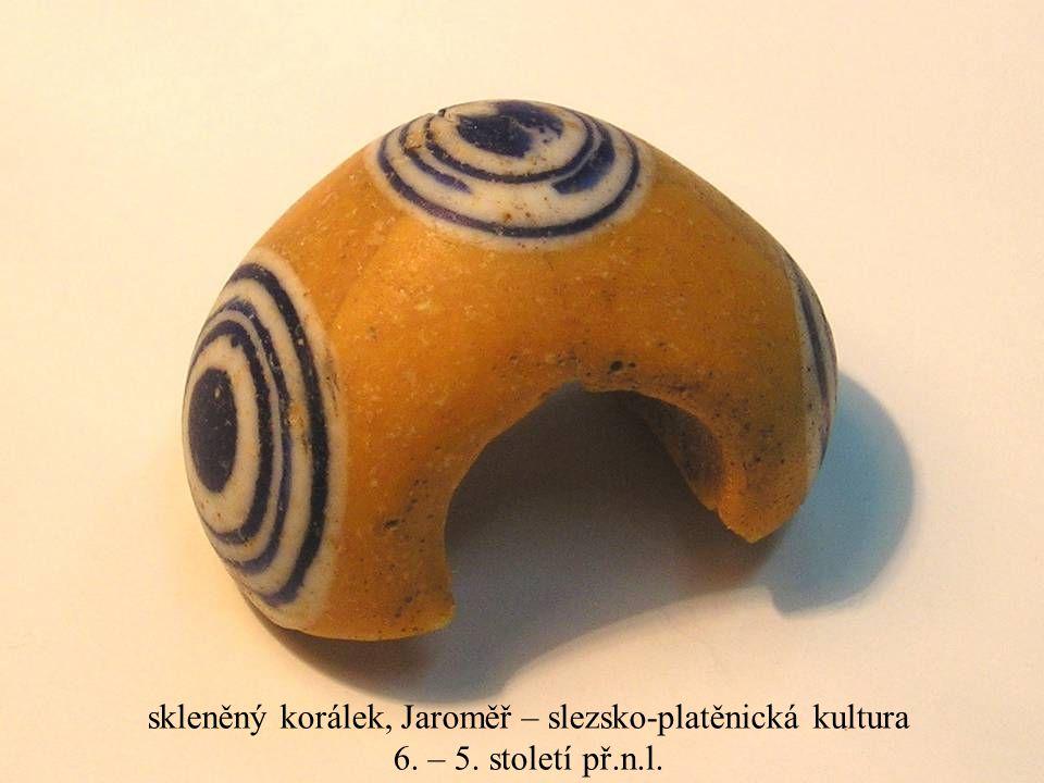 skleněný korálek, Jaroměř – slezsko-platěnická kultura