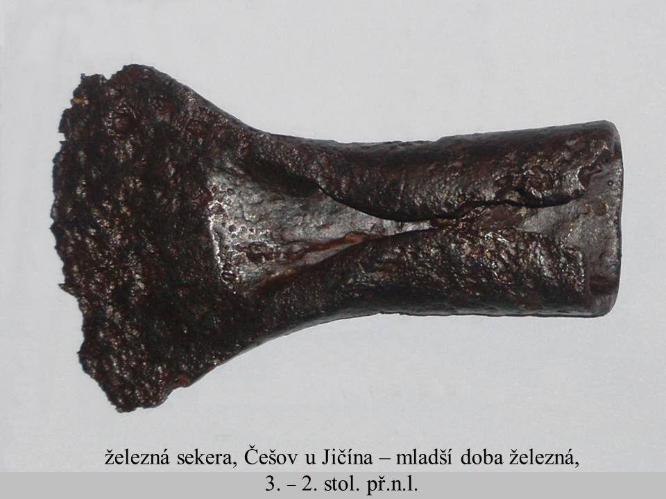 železná sekera, Češov u Jičína – mladší doba železná,