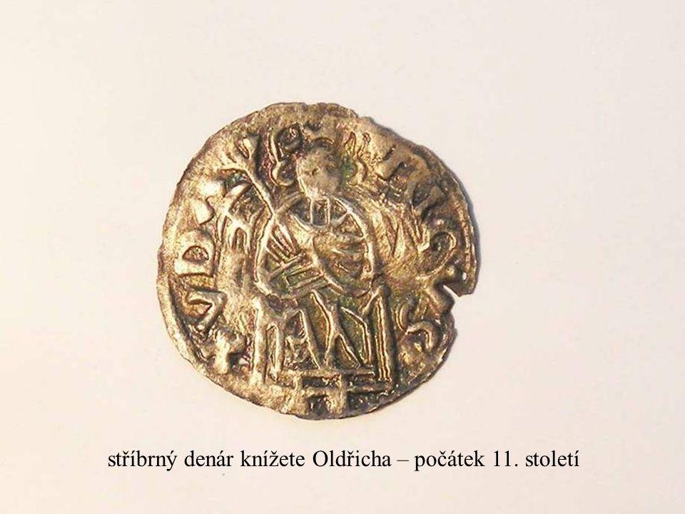 stříbrný denár knížete Oldřicha – počátek 11. století