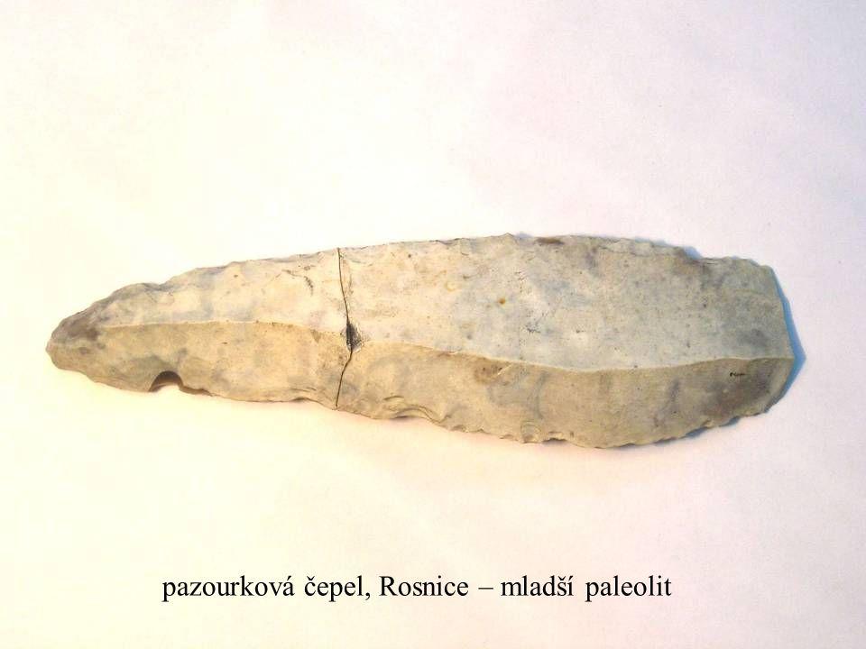 pazourková čepel, Rosnice – mladší paleolit
