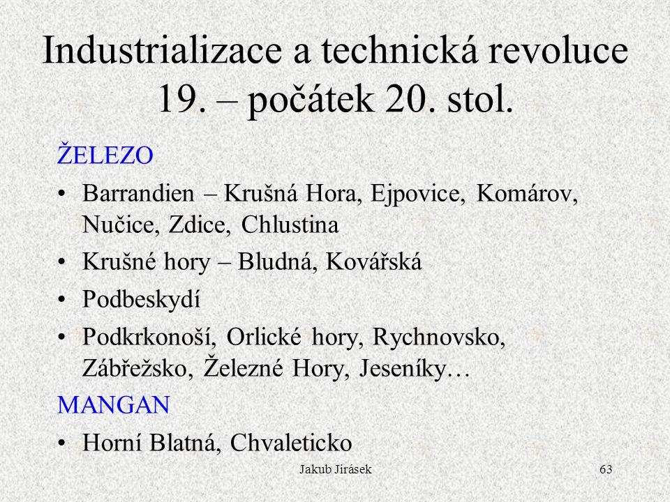 Industrializace a technická revoluce 19. – počátek 20. stol.