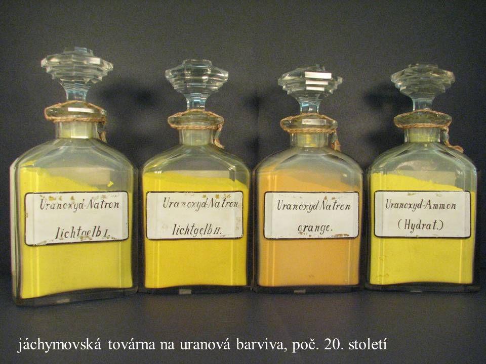 jáchymovská továrna na uranová barviva, poč. 20. století
