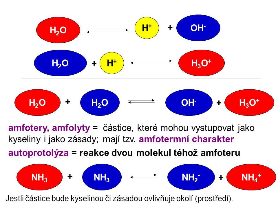 OH- H2O H+ H2O H3O+ H+ H2O H2O OH- H3O+ NH3 NH3 NH2- NH4+