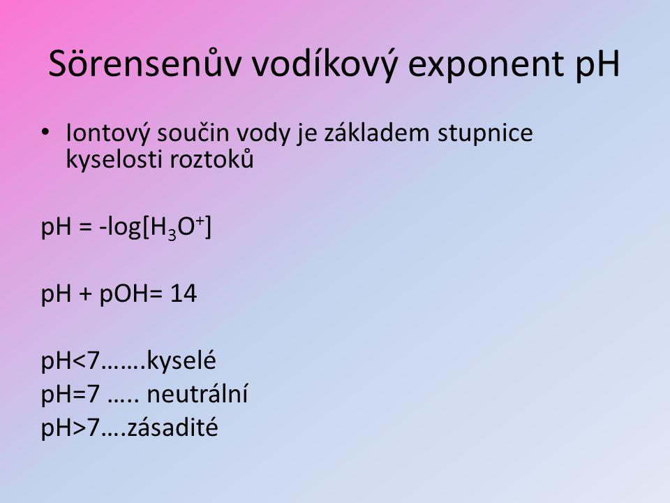 Sörensenův vodíkový exponent pH