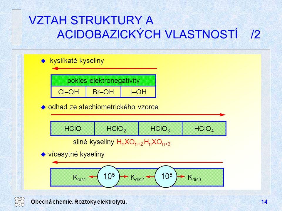 VZTAH STRUKTURY A ACIDOBAZICKÝCH VLASTNOSTÍ /2