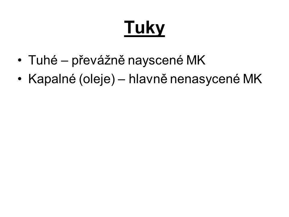 Tuky Tuhé – převážně nayscené MK