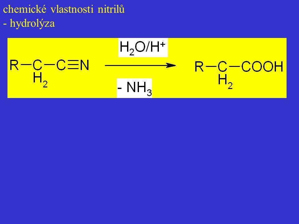 chemické vlastnosti nitrilů