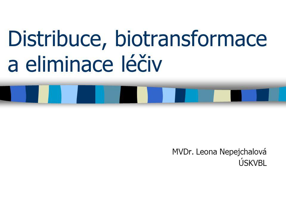 Distribuce, biotransformace a eliminace léčiv