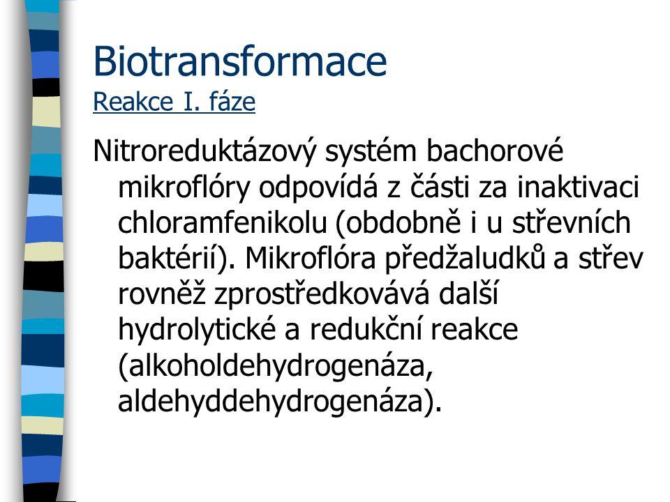 Biotransformace Reakce I. fáze