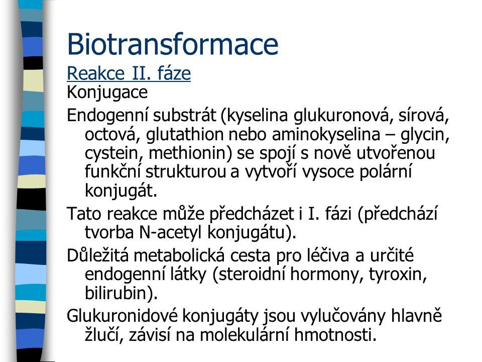 Biotransformace Reakce II. fáze