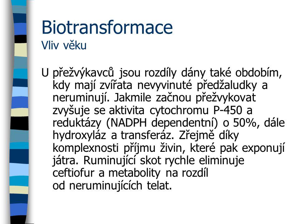 Biotransformace Vliv věku
