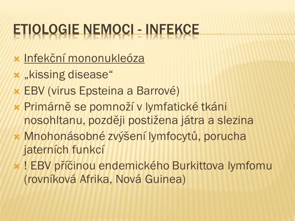 ETIOLOGIE NEMOCI - INFEKCE