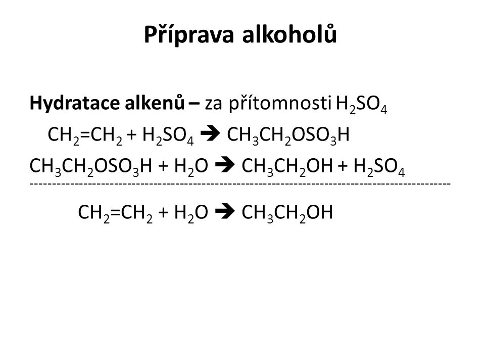 Příprava alkoholů