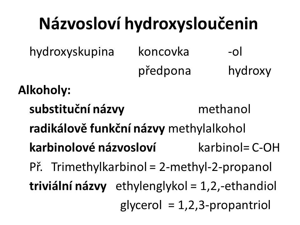 Názvosloví hydroxysloučenin