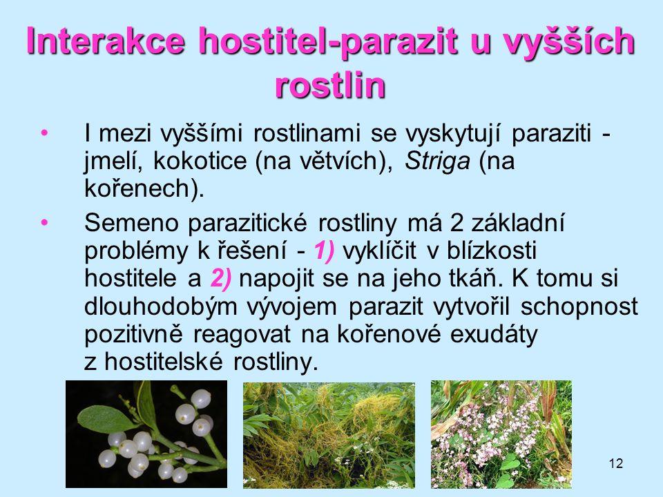 Interakce hostitel-parazit u vyšších rostlin