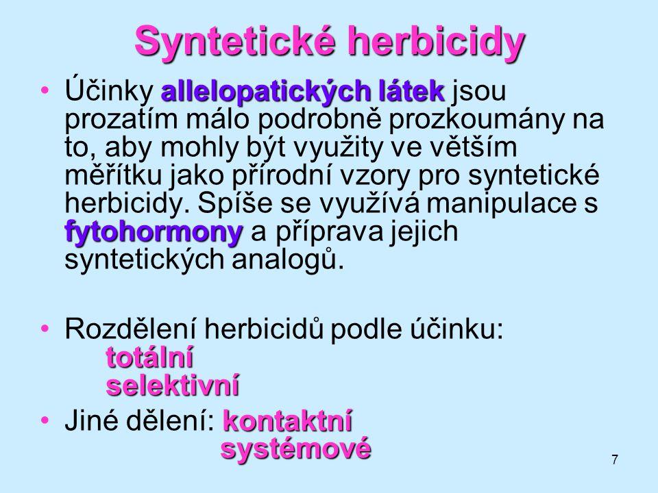 Syntetické herbicidy