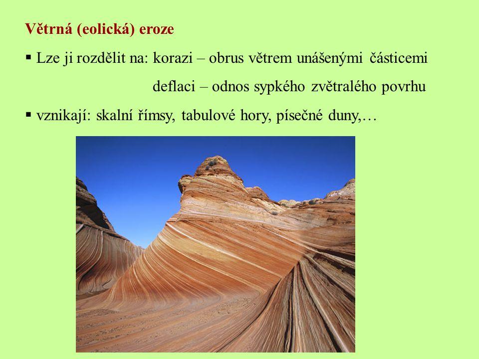 Větrná (eolická) eroze