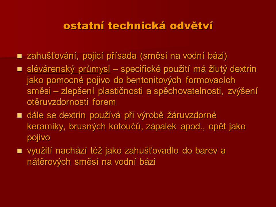 ostatní technická odvětví