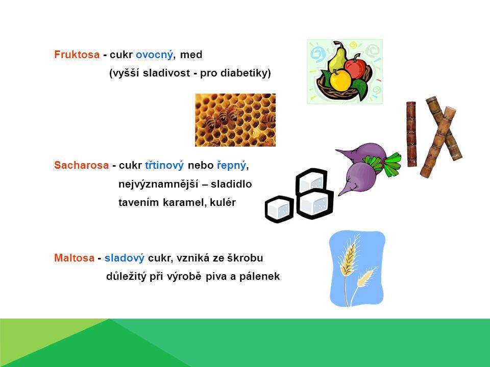 Fruktosa - cukr ovocný, med