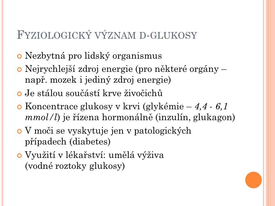 Fyziologický význam d-glukosy