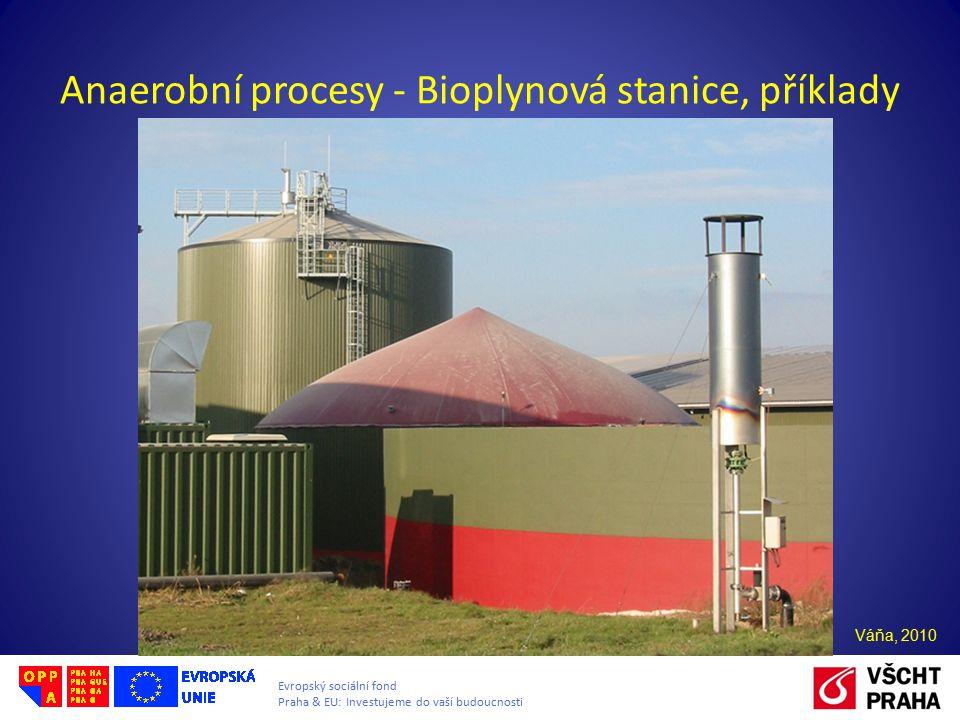 Anaerobní procesy - Bioplynová stanice, příklady