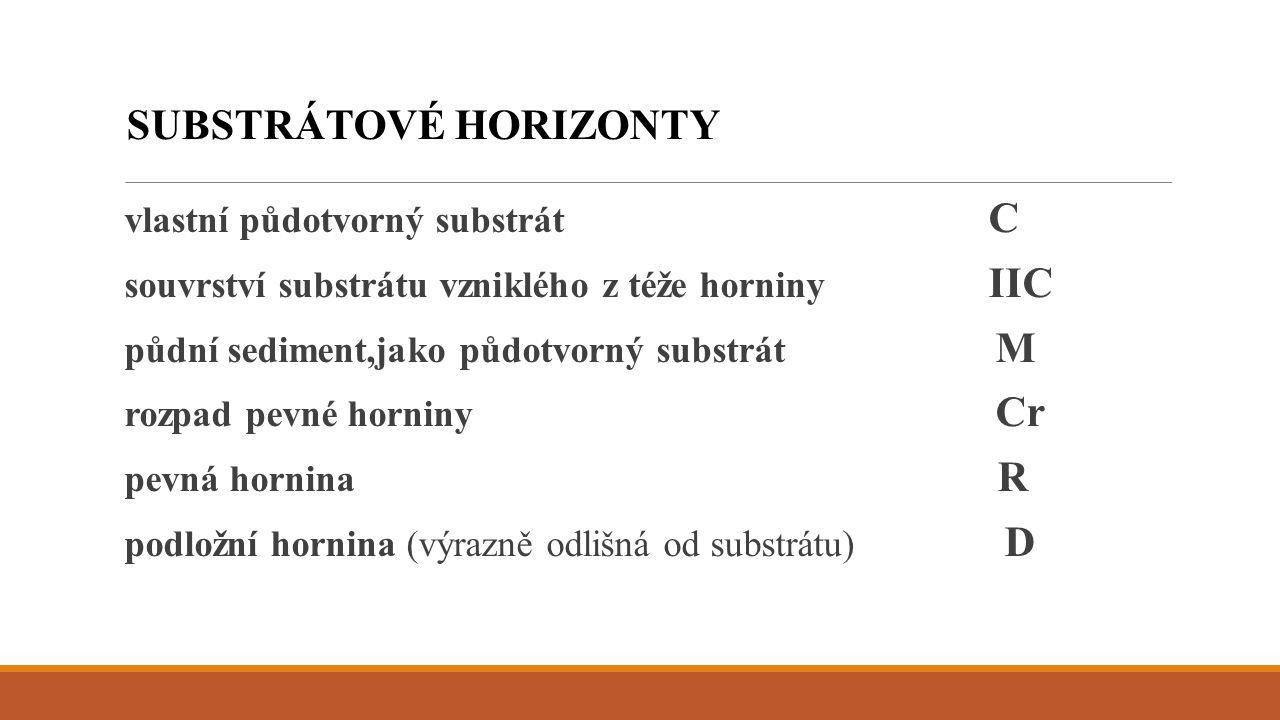 SUBSTRÁTOVÉ HORIZONTY
