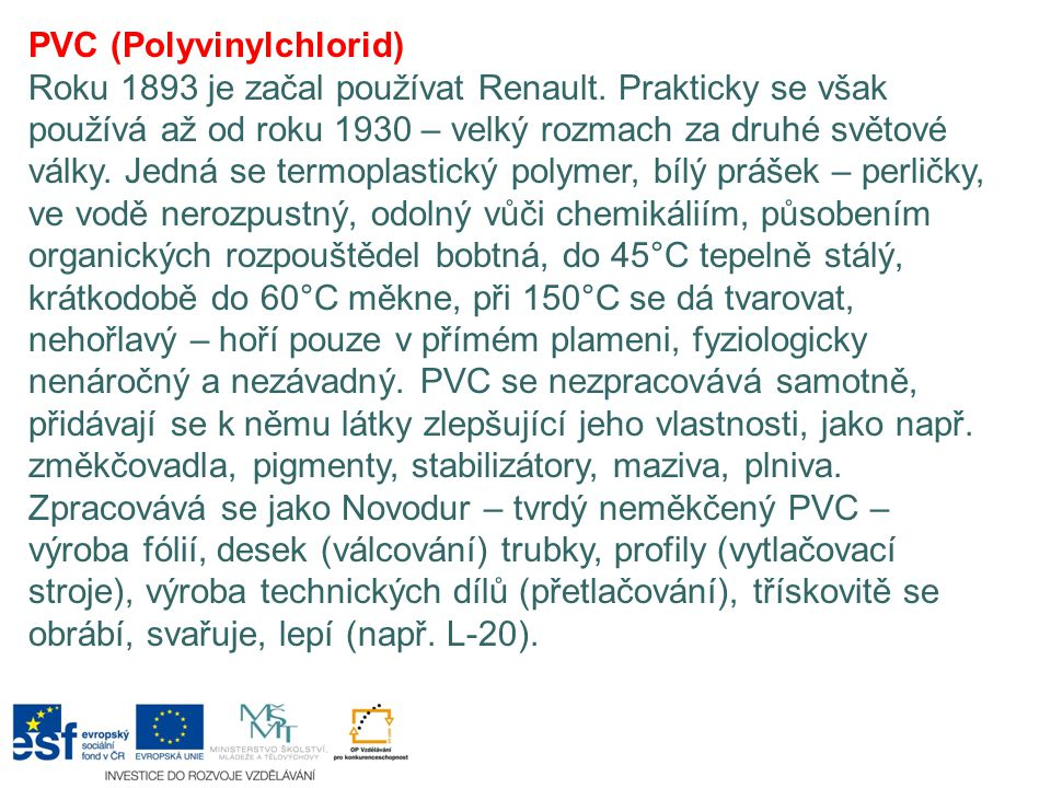 PVC (Polyvinylchlorid)