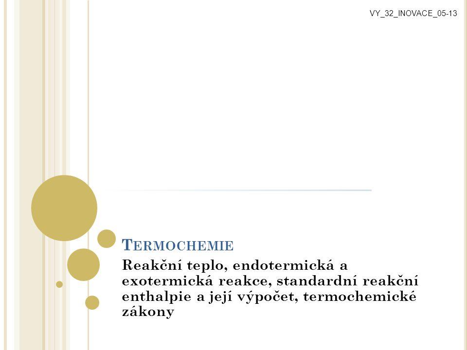 VY_32_INOVACE_05-13 Termochemie.