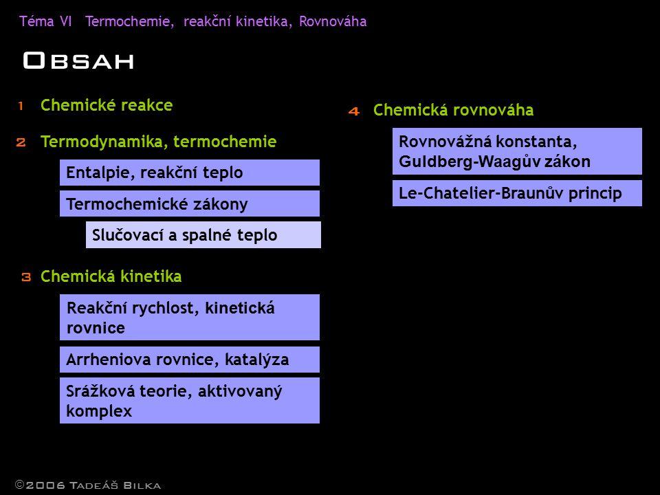 Obsah 1 Chemické reakce 4 Chemická rovnováha 2