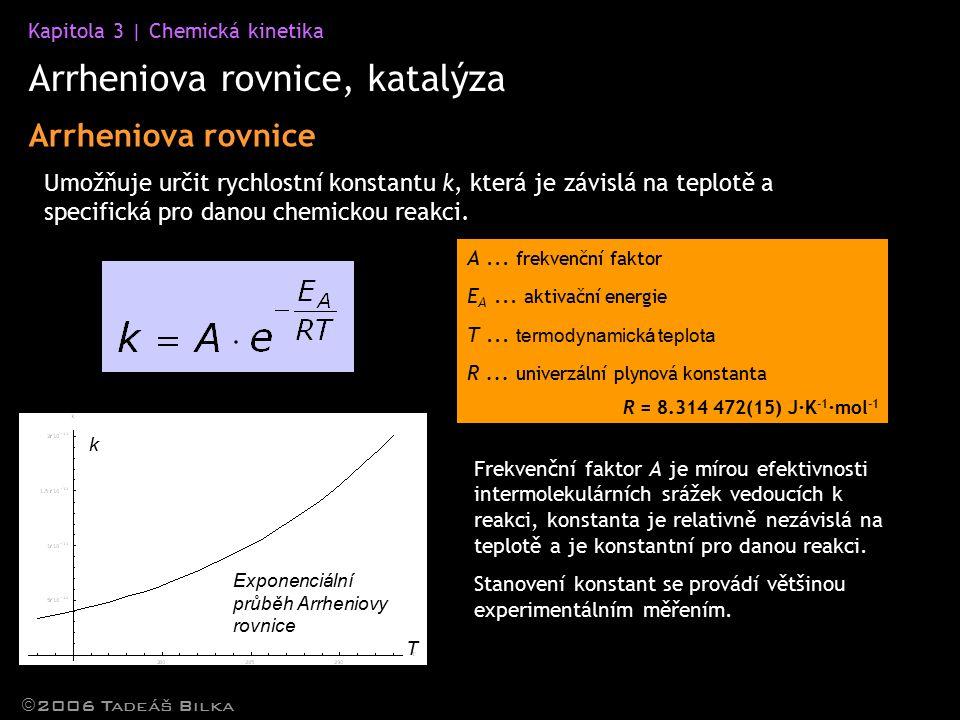 Arrheniova rovnice, katalýza
