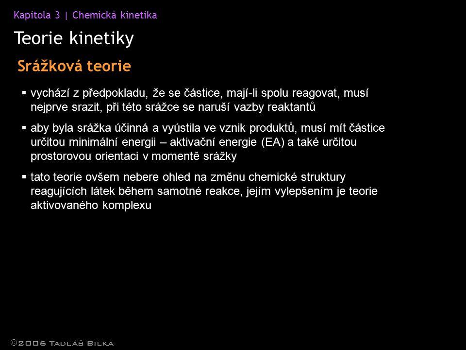 Teorie kinetiky Srážková teorie