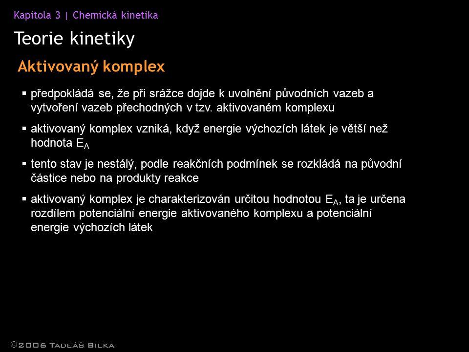Teorie kinetiky Aktivovaný komplex
