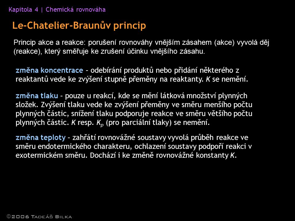 Le-Chatelier-Braunův princip