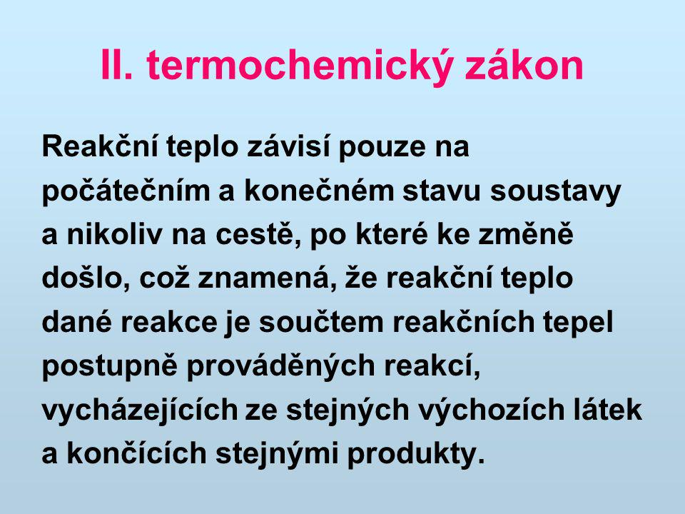 II. termochemický zákon