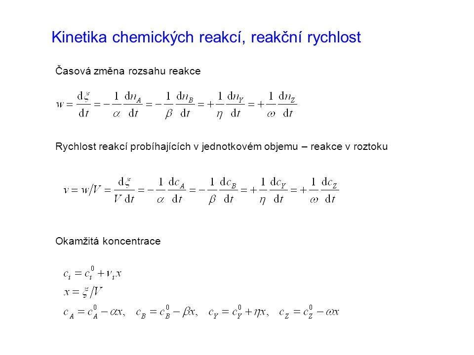Kinetika chemických reakcí, reakční rychlost