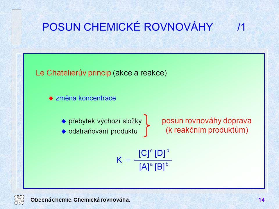 POSUN CHEMICKÉ ROVNOVÁHY /1