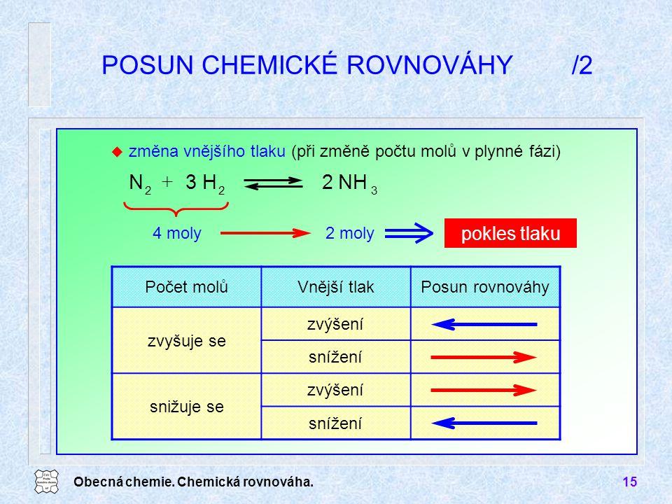 POSUN CHEMICKÉ ROVNOVÁHY /2