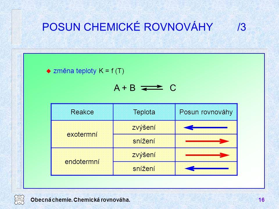 POSUN CHEMICKÉ ROVNOVÁHY /3