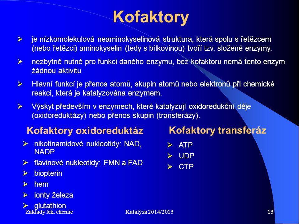 Kofaktory oxidoreduktáz