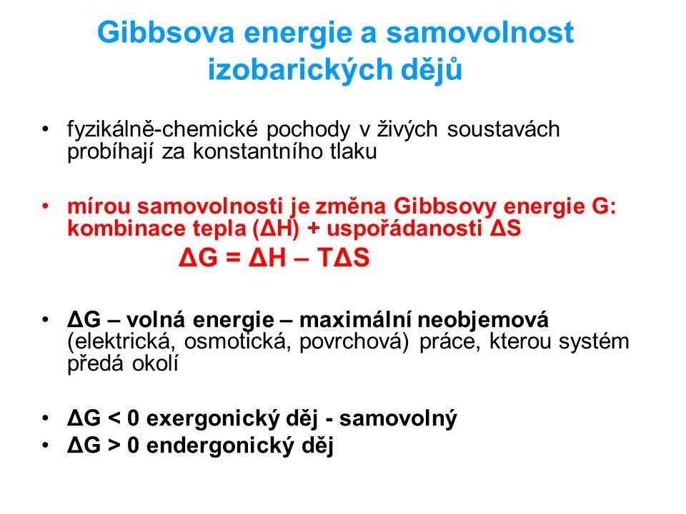 Gibbsova energie a samovolnost izobarických dějů
